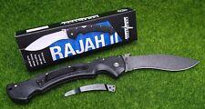 "Cold Steel Rajah II, Kukri Style, Drop Point, Plain Edge 6"" Folding Blade - 62JL"