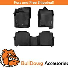 SMARTLINER Floor Mats Liner 2 Row Set for Nissan Titan Crew Cab (Black)