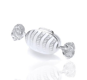 925 Sterling Silver Fancy Sweet Bonbon Trinket - Pill Box.