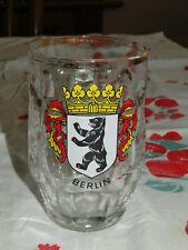Ruhrglas Germany - BERLIN Thumbprint Pattern .4 L Beer Mug / Stein