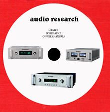 Audio Research Repair service schematics owner manuals on 1 dvd in pdf format