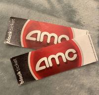 2 Physical AMC Theatre Black Movie Tickets - No Expiration