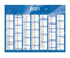Quo Vadis Calendrier de banque mural 2021 c:Bleu Format Petit :13,5x18 cm NEUF