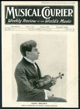 Eddy Brown photo with violin Musical Courier framing cover March 14 1918