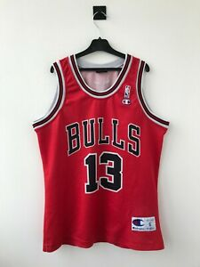 CHICAGO BULLS BASKETBALL SHIRT JERSEY CAMISETA CHAMPION NBA USA NOAH RED VINTAGE