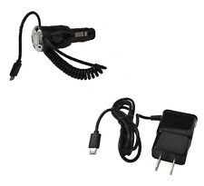 2 AMP Micro USB Car Charger + Wall Home Travel Charger for LG 329G