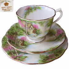 Royal Albert The Old Mill 3pc Trio Tea Cup Saucer & Plate 1st Eng c1950