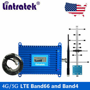 5G Signal Booster 4G LTE 1700/2100MHz Cell Phone Band 66/4 Repeater for AT&T