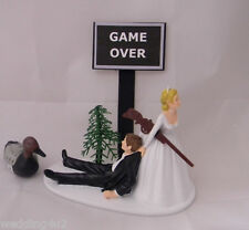 Wedding Reception Party  ~Duck Fowl~  Hunting Hunter Game Over Sign Cake Topper
