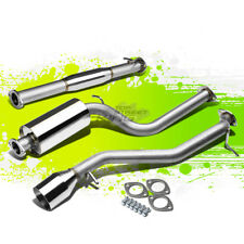 "4.5"" ROLLED TIP MUFFLER PERFORMANCE CATBACK EXHAUST KIT FOR 00-04 FOCUS ZX3/ZX5"