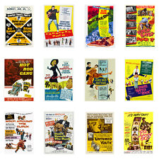 1950s Vintage Rock n Roll Movie Posters Rockabilly Hollywood Hot Rod Bill Haley