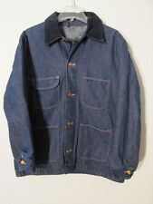 V7606 Montgomery Wards Deep Indigo Button Up Button Up Lined Barn Jacket Men 42