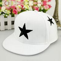 Kids Boys Girls Adjustable Star Pattern Baseball Cap Snapback Hip-hop Summer Hat