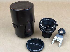 Minolta 21mm f/4 W. Rokkor QH  Lens Complete w/ Finder #1100509 Very Clean