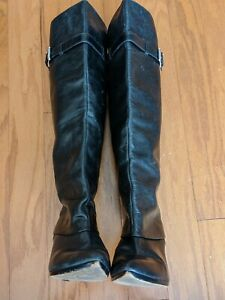 Michael Kors Black All Leather Over The Knee Fashion Riding Boots Size 8 M