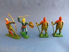 STARLUX choc - 4 soldats en plastique du moyen-âge - chevaliers - Lot 9