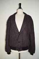 Le Tigre Jacket Coat Wool Blue & Burgundy Men's Size 46