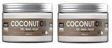 2 X 100% pure natural coconut oil 450ML Cooking, moisturiser for hair skin face