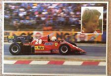 Postcard Cartolina Ferrari F.1 Rene Arnoux