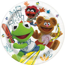 MUPPET BABIES LARGE PAPER PLATES (8) ~ Baby Shower 1st Birthday Party Supplies