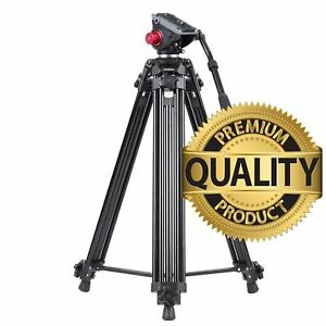 Andoer 67 Inches Professional Aluminum Alloy 1.7 m Video Camera Tripod with Head