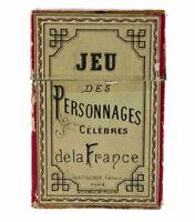 JEU des PERSONNAGES CELEBRES de la FRANCE vers 1900 / jeu ancien antique game