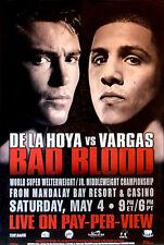 Vintage Original Oscar de la Hoya vs. Fernando Vargas Boxing Fight Poster