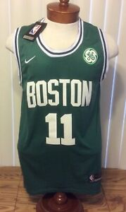 Nike Authentic NWT Boston Celtics Kyrie Irving Green Stitched Jersey Youth 50 +4