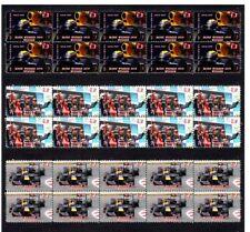 MARK WEBBER 2010 SPANISH F1 GP WIN SET OF 3 MINT VIGNETTE STAMPS