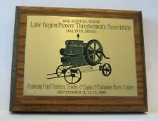 Fairbanks Morse Hit Miss Engine Display Plaque Lake Region Threshers 1988 Show