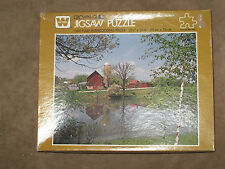 Whitman Crown Guild Jigsaw Puzzle Co 1000pc Quiet Pond   Roxbury ,WI      Sealed