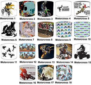 Motocross Lampshades Ideal To Match Motocross Wallpaper & Motocross Wall Art.