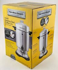 Hamilton Beach 60 Cup Stainless Steel Commercial Coffee Maker Urn D50065 New