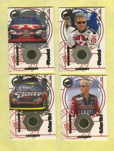 4 CARD 2000 RUDD / MARLIN RACE USED LUG NUT LOT