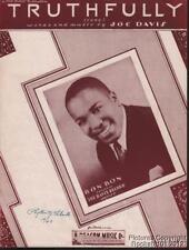 1944 Joe Davis / Bob Bon R&B Sheet Music (Truthfully)