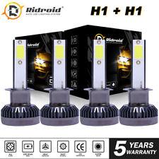H1 H1 Combo 4000W 600000LM LED Headlight High Low Beam Kit Bulbs White 6000K 4X