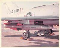 Original Vintage Photograph Missile Mounted On USAF Plane  #97