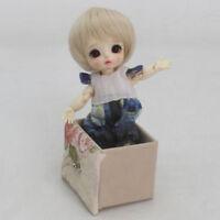 1/8 BJD SD Short Wig Beige Hair For MSD DIM DOD SD Mini Doll DIY Cosplay