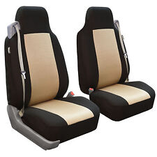 Car Seat Covers for integrated seat belts / built-in seat belt beige & black
