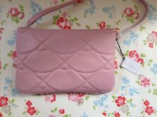 ⭐️LULU GUINNESS⭐️POWDER PINK QUILT LIPS SHOULDER BAG Purse⭐️AUDRA