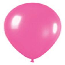 "12 Neon Pink Latex Balloons Helium Grade 11"""