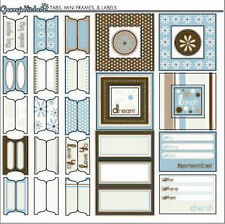 sei GRANNY'S KITCHEN 12x12 TABS & FRAMES Sticker Sheet scrapbooking