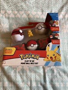 Pokemon Clip N Go Poke Ball Belt Set - New In Box