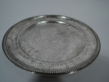 Tiffany Cake Plate - 7758 - Antique Coaching Days - American Sterling Silver