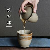 Coarse Pottery Tea Pot Cup Travel Quik Retro Japanese Ceramic Teapot Cup
