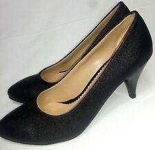Abendschuhe schwarz Damenschuhe High Heels Plateau Pump  Lackleder Größe 36 - 40
