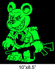 "ZOMBIE Sticker EVIL TEDDY BEAR ar-15 VOODOO TACTICAL gun 10""x8.5"" Vinyl Decal"