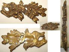 Ancien Fronton, Plaque, Montant d'ornement, en bronze art populaire
