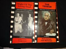 Lot of 2 Vhs Horror Movies 1991 Remakes - Night of the Living Dead - The Terror