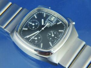 Longines Ultronic Tuning Fork Chronograph F300hz Watch Vintage Circa 1970s Fab